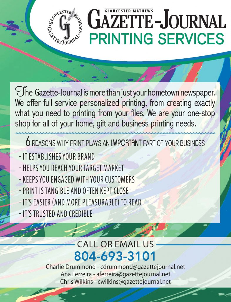 Gazette Journal Printing Services information